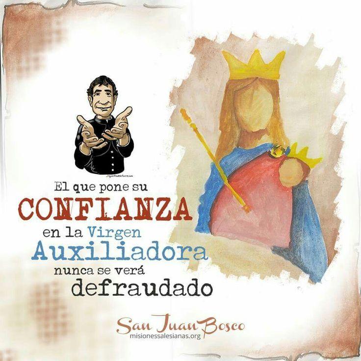 María Auxiliadora y san Juan Bosco