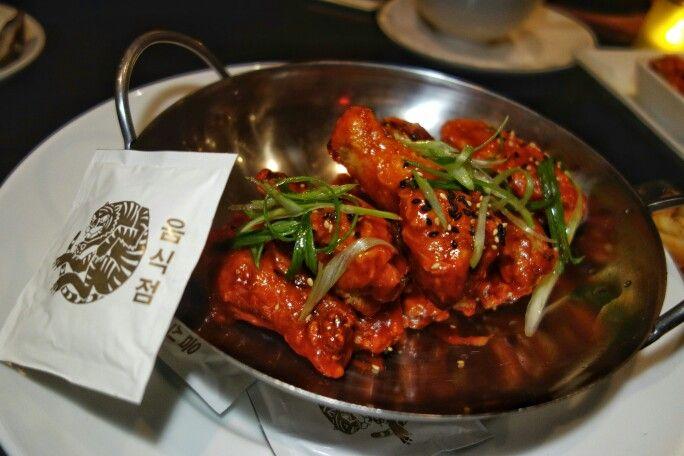 Favourite Korean bar snack. Maple Hill Chicken Wings (Dak Nalgae)  Gochujang, Kabayaki & Sansyo or Salt & Szechuan Pepper at @anjurestaurant #Korean #ModernKorean #Koreanfood #Calgary #YYC #FMFinCalgary #FMFAnju