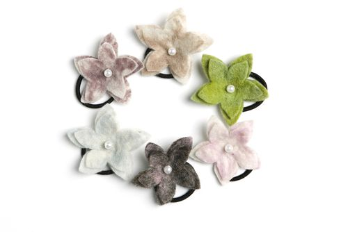 Cute #handmade #hairband with #flowers, comes in 3-pack in the colors (green, beige, purple) or (white, pink, grey/pink). - $25.00
