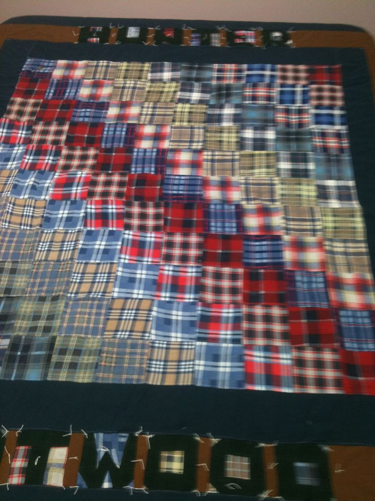 1000 Images About Flannel Shirt Quilt On Pinterest
