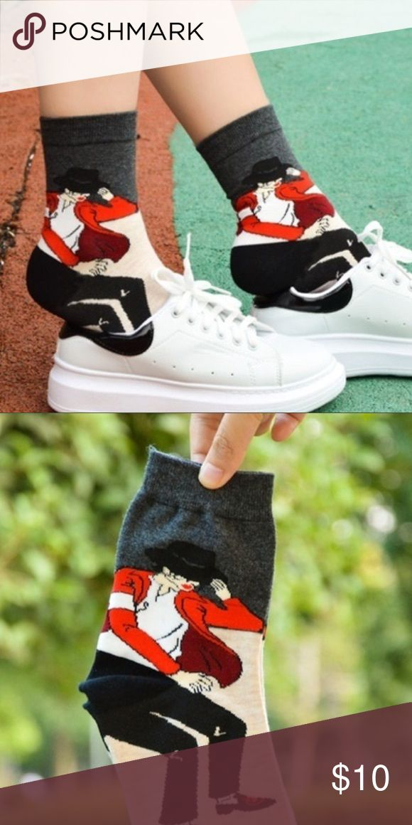 New! Thriller Michael Jackson Socks Brand new! Socks featuring likeness of Michael Jackson in the Thriller video. Great for music fans! Best fits women's size 7-9. Accessories Hosiery & Socks