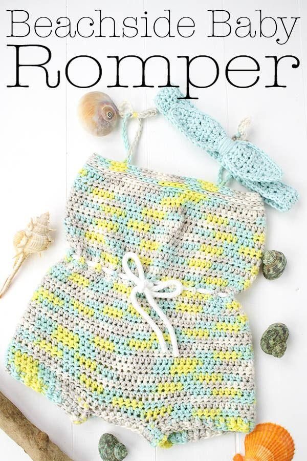 Beachside Baby Romper Free Crochet Pattern   Crochet Patterns ...