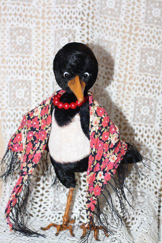Купить Клара с кораллами - черный, сорока, тедди, теддик, игрушка в подарок…