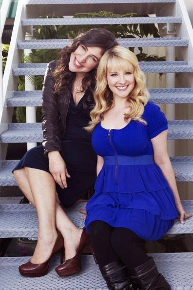 Mayim and Melissa a.k.a Bernadette and Amy from The Big Bang Theory. Love these girls together <3 .