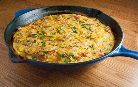ham,potato,and roasted red pepper frittata one of best breakfast ...