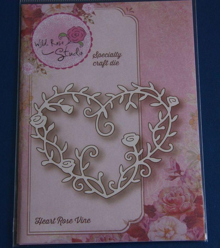 NEW Wild Rose Studio 'Heart Rose Vine' Love Specialty Craft Die SD039-Valentines | eBay