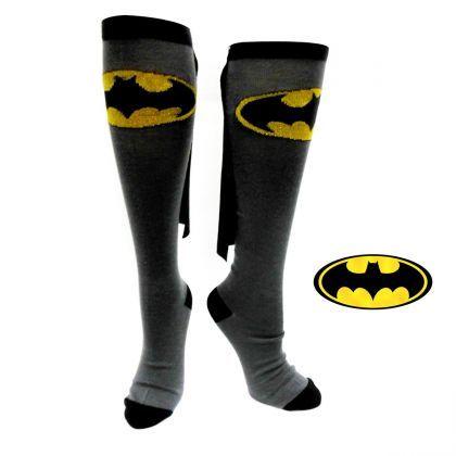 Des chaussettes hautes Batman, pour s'envoler vers de nouvelles aventures tous les matins !