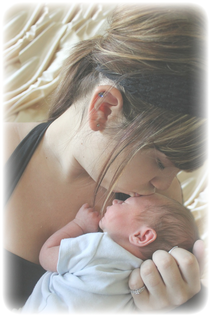 Mommy with her newborn
