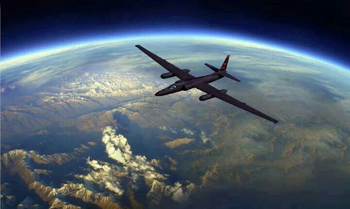U2 Spy plane with the Earth as its backdrop