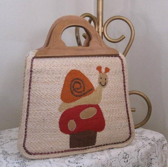 Snail and Mushroom purse: Valentines Ideas, Tellme Inspiration, Mushroom Purse, Tote Bags