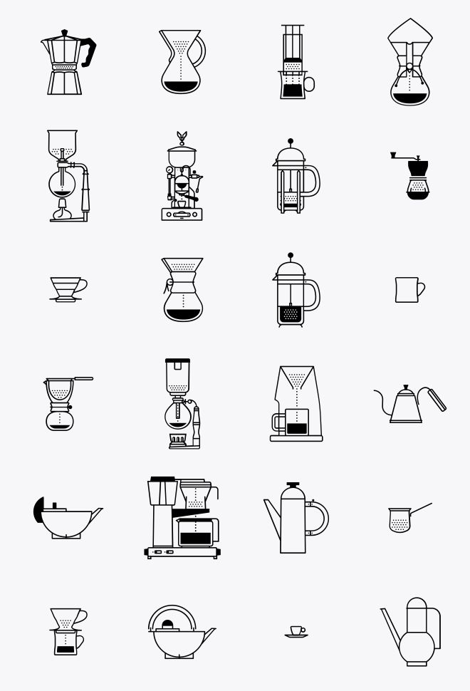 Coffee icons http://thenounproject.com/ericellis/collection/coffee/