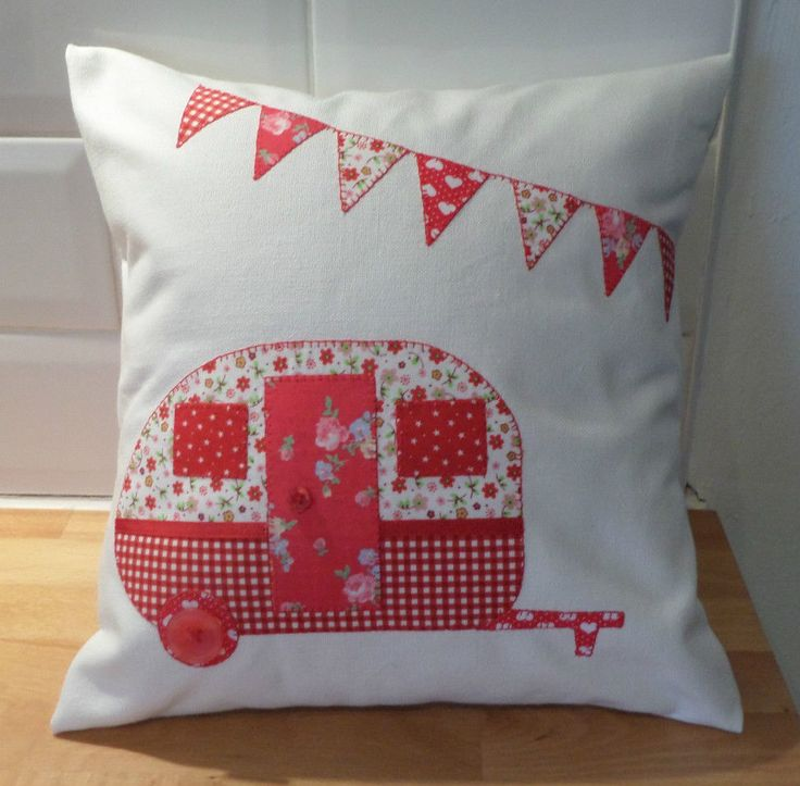 HomeMade 12 Caravan Cushion Cover & Pad Cath Kidston Fabric Retro & Perfect Gift