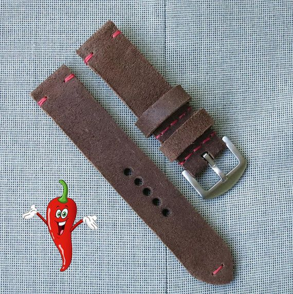 Brown Watch strap leather watch strap watchband by chileconcarne