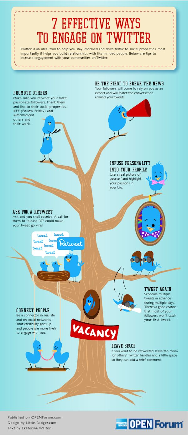 7 Effective Ways To Engage On #Twitter #INFOGRAPHIC via @alltwtr #SocialMedia
