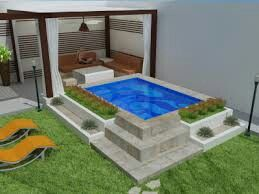 Piscina para patios peque os deco pinterest for Patios modernos con piscina