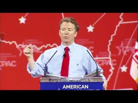 "Welcome to the 2016 presidential bid party, Senator Rand Paul! Rand Paul's campaign ad combines everything you could imagine in a presidential announcement video – epic music, propaganda-like words like ""Rand Paul Taking a Stand"", liberal news commentators like John Stewart and Chris Matthews talking about how great he is and an undistinguishable cult-like chant at the end."