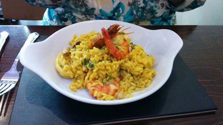 Our #Paella, picture sent in from a happy customer. Thank you  #Barbican #placestoeat #InPlymouth