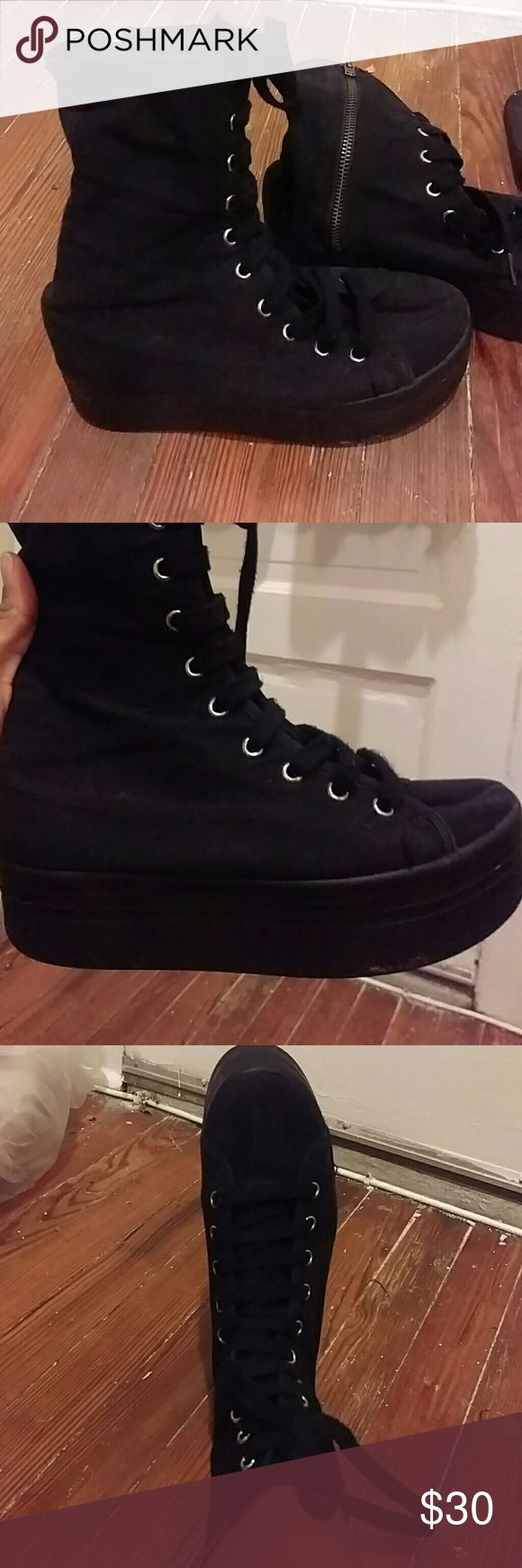 Creeper boots Ankle creeper boots. I'm not sure the brand but put H&M for more exposure. MAKE AN OFFER? H&M Shoes Ankle Boots & Booties