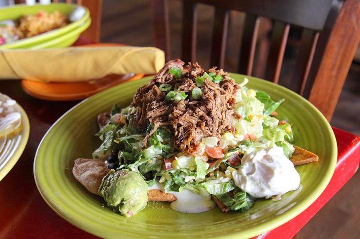 This still counts as a salad, right? Pacos Tacos  #tacosalad