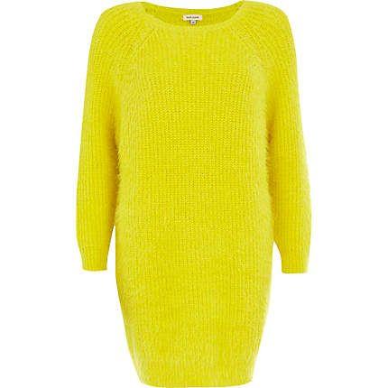 Yellow fluffy jumper dress £45.00