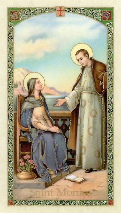 St. Monica prayer card