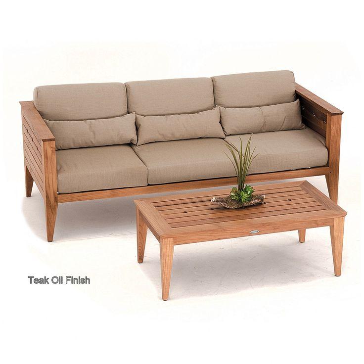 Craftsman Outdoor Deep Seating Teak Sofa - Westminster Teak Outdoor Furniture