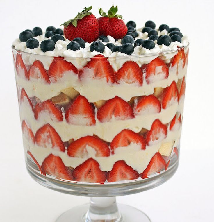 When I found this recipe for a Red, White and Blue Trifle on Pinterest a few weeks ago, I could not wait for the 4th of July so I could make it (trifles ma