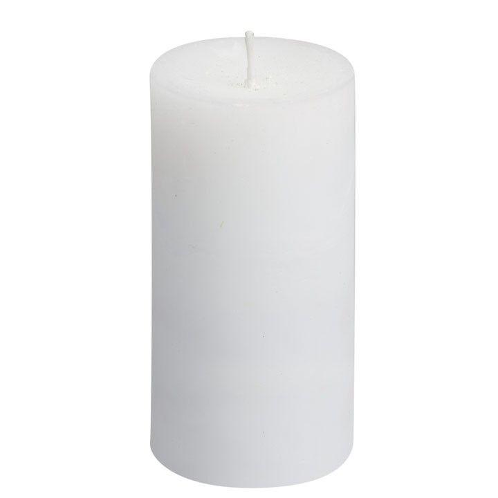 Stompkaars rustiek wit. Een witte kaars voor op elke plek in huis. #intratuin