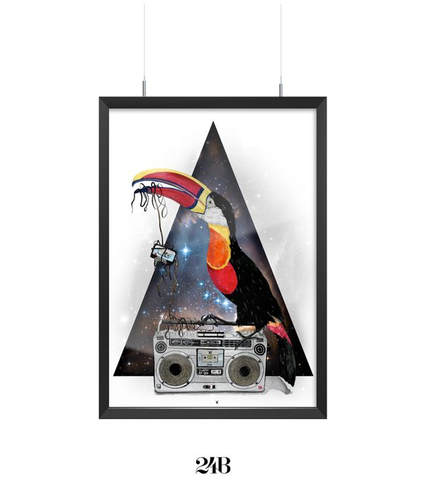 Tucan Old Stereo by 24B, via Behance