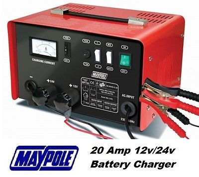 #Maypole heavy duty #steel 20 amp 12v/24v car van tractor battery charger ##mp730,  View more on the LINK: http://www.zeppy.io/product/gb/2/261260248521/