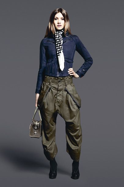 G-Star RAW Womens: 2011-2012 Fall Winter Collection: Designer Denim Jeans Fashion: Season Lookbooks, Ad Campaigns and Linesheets