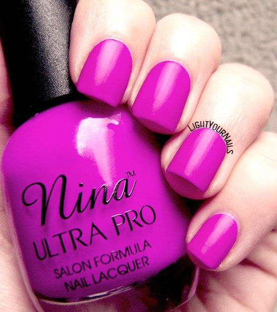 Nina Ultra Pro Punki Purple #nina #nailpolish #smalto #lightyournails