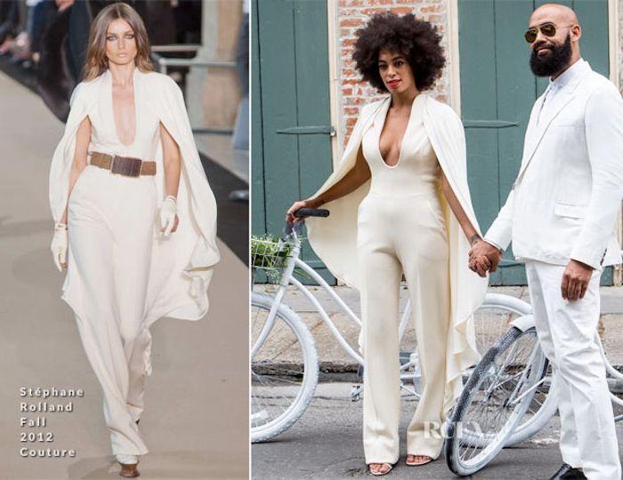 weitere ideen zum thema festlicher jumpsuit für damen damenmode inspiration ideen paar ehepaar mit fahrrad und eine dame auf der mode bühne