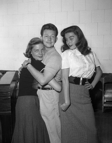 Lauren Bacall, Donald O'Connor & Elaine Stewart   candid silliness.