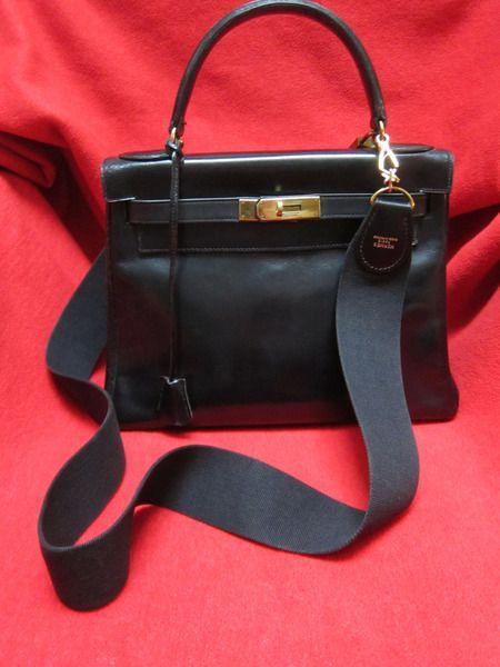 """Vintage Handtaschen - 1 """"KELLY BAG"""" 28er schwarz - HERMES Paris - ein Designerstück"""