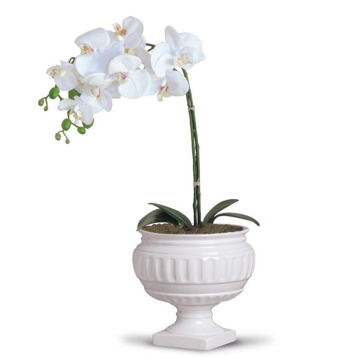 Arranjo de flores artificiais orquideas