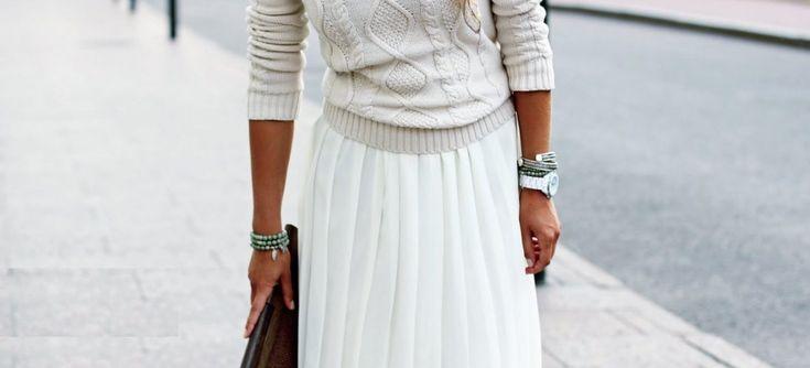 5 стильных идей: с чем носить юбку в пол?