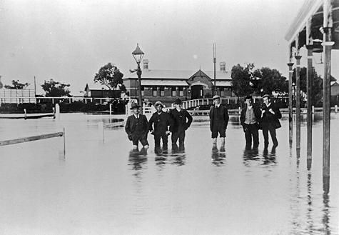 Warracknabeal Railway Station, Victoria. August 1909