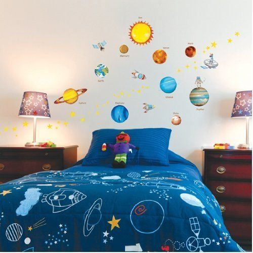Decowall Planets Wall Stickers Vinyl Removable Nursery Decals 1307 Home Kids Art #DecowallQuoteStickers #ModernandEducational