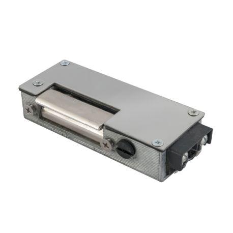 Yala electromagnetica 62AAD. CARACTERISTICILE YALEI ELECTROMAGNETICE INCASTRATA 62AAD: Yala electromagnetica incastrabila, rezistenta la apa si praf - STANGA(L) / DREAPTA(R) Alimentare: 1A, 8-12 Vca/cc Actionare: impulsInchisa fara alimentare (fail secure) Alte caracteristici: buton deblocare, memorie mecanica, nereversibila, IP65 Temperatura:  -15°C ~ 40°C Dimensiuni: (L)101 x (l)20 x (A)37 mm