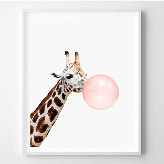 Giraffe print, Nursery Animal wall art, Giraffe Decor, Kids room printable, Safari Modern art, Wall decor, Printable Instant Download 16x20