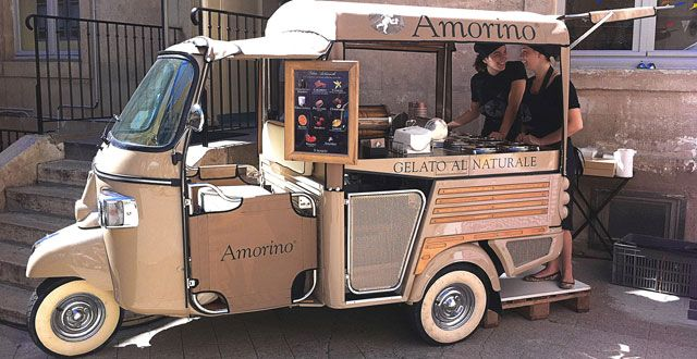 La moto de los #helados #gourmet