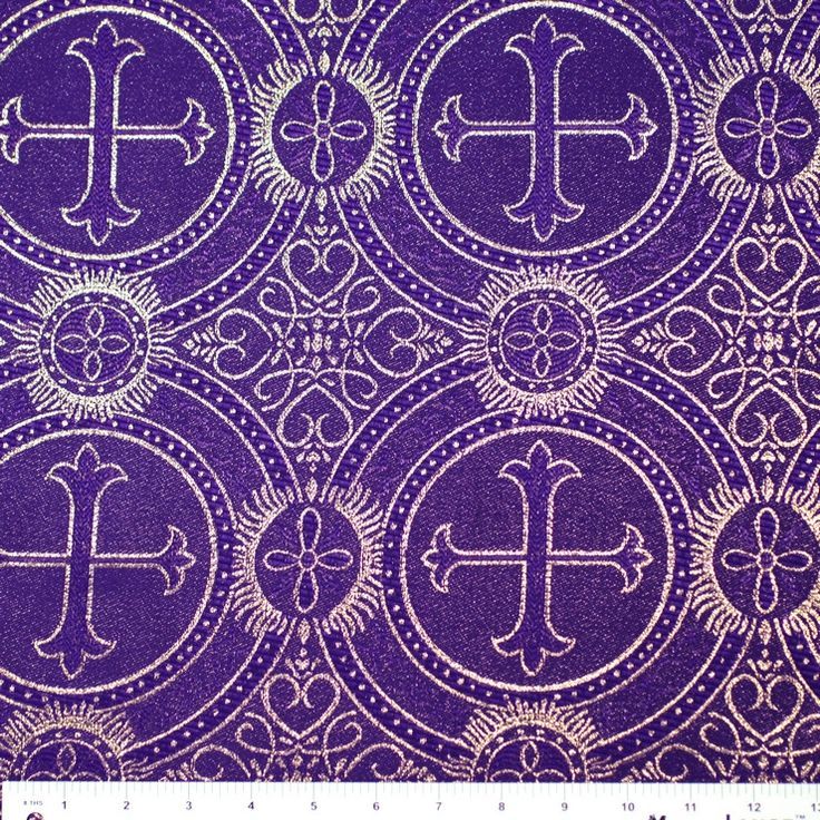 Polyester Church Brocade Fabric Designer Fabric By The