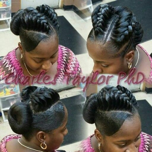 Lifted Braid And Donut Hair Styles Pinterest Donuts