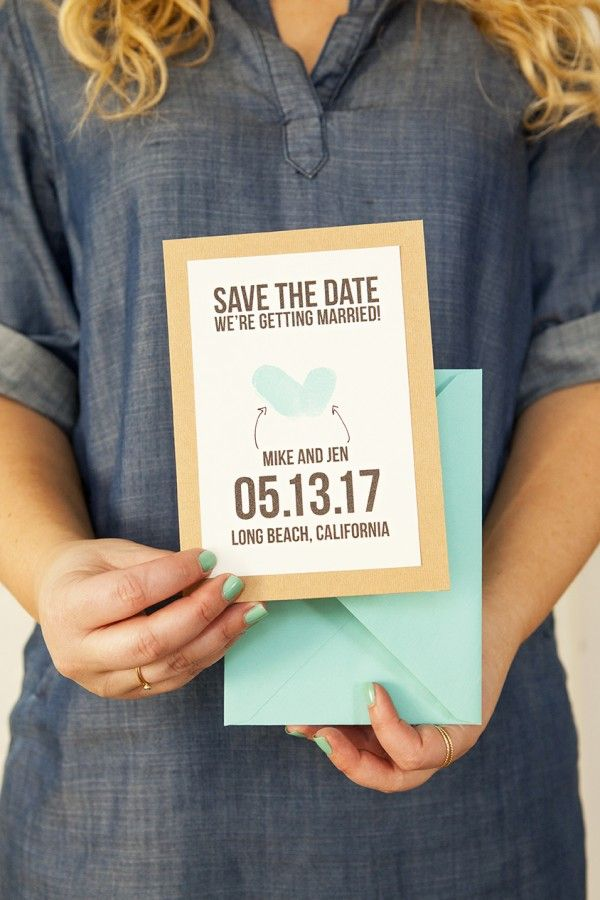 Thumbprint Save the Date with Free Printable