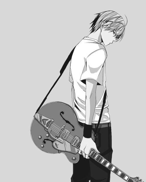 manga boy with guitar - Google zoeken