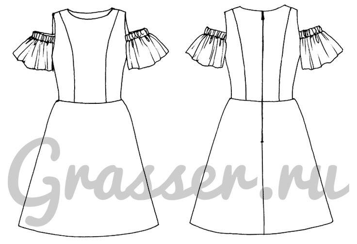 Выкройка №388, платье, магазин выкроек grasser.ru #sewing_pattern