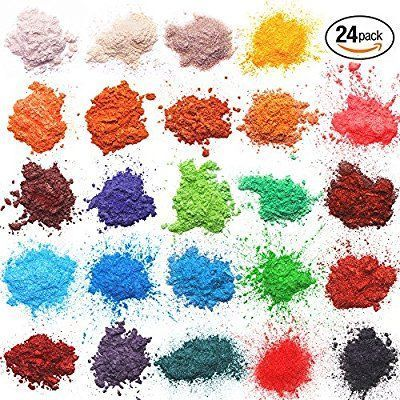 Amazon.com: Mica powder – Soap Making Kit – Powdered Pigments Set – Soap making dye – 24 coloring - Hand Soap Making Supplies - Resin Dye - Mica Powder Organic for Soap Molds - Bath Bomb Dye Colorant – Makeup Dye: Arts, Crafts & Sewing #soapmaking