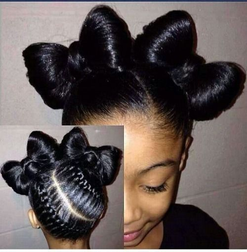 Super 1000 Ideas About Black Little Girl Hairstyles On Pinterest Hairstyles For Women Draintrainus