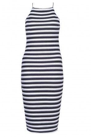 Lipsy Striped Cami Dress in Monochrome